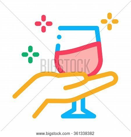 Wine Testing Icon Vector. Wine Testing Sign. Color Symbol Illustration