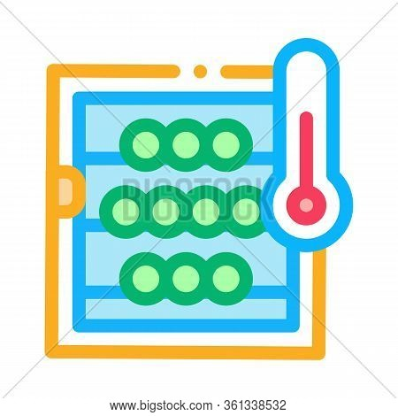 Temperature In Wine Cellar Icon Vector. Temperature In Wine Cellar Sign. Color Symbol Illustration