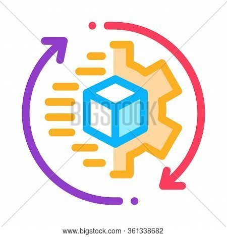 Technical Aspect Of Sending Icon Vector. Technical Aspect Of Sending Sign. Color Symbol Illustration