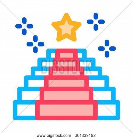 Seat Place Event Icon Vector. Seat Place Event Sign. Color Symbol Illustration
