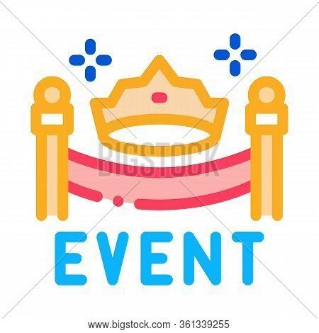 Solemn Presentation Event Icon Vector. Solemn Presentation Event Sign. Color Symbol Illustration