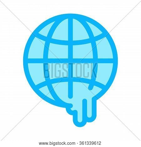 Global Warming Icon Vector. Global Warming Sign. Color Symbol Illustration
