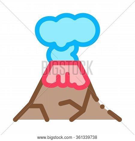 Eruption Icon Vector. Eruption Sign. Color Symbol Illustration