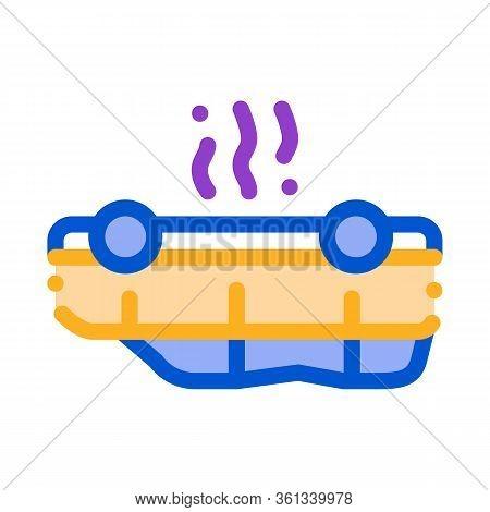 Inverted Car Icon Vector. Inverted Car Sign. Color Symbol Illustration