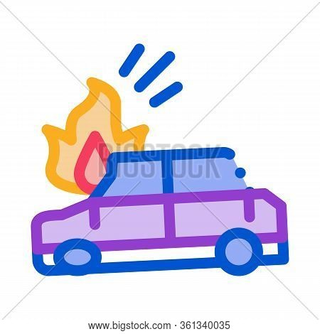 Car Ignition Icon Vector. Car Ignition Sign. Color Symbol Illustration