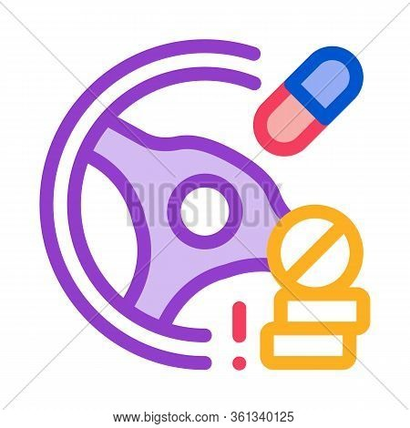 Dope Driving Icon Vector. Dope Driving Sign. Color Symbol Illustration