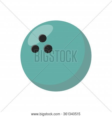 Bowling Ball Icon. Sports Concept, Bowling Ball. Vector Illustration.