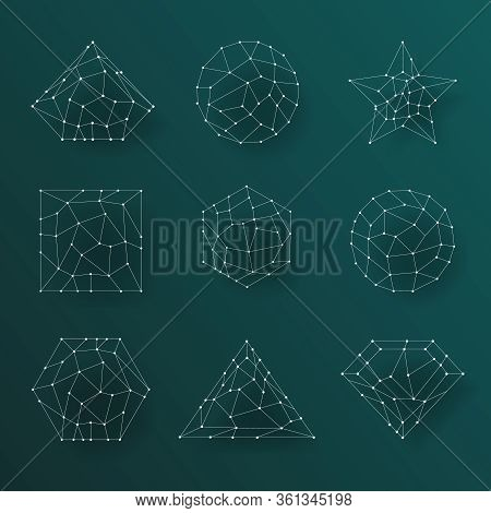 Geometric Abstract Lines Low Polygonal Background Lowpoly Illustration Background
