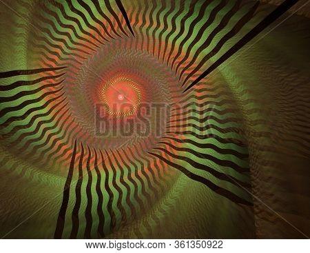 Abstract Broun Spiral Background Image, Illustration - Spiral, Color Vortex. Colorful Warped Shapes.
