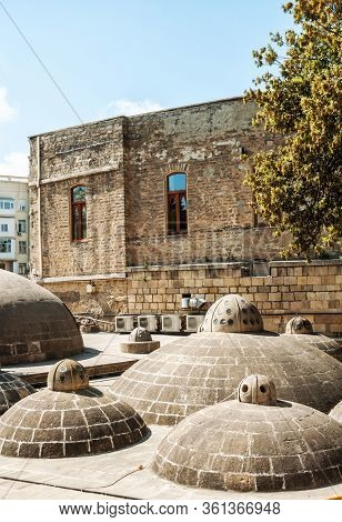 Azerbaijan, Baku. Ancient Hamam Of Kasum Bek In The Historic District Of Icheri Sheher Old Town In B
