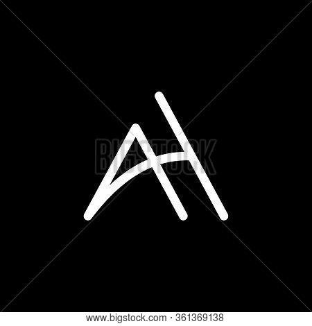 Ah Logo Design. Ah Letter Logo Desig. Initial Letter Ah Logotype Company Logo Design. A H Vector Log
