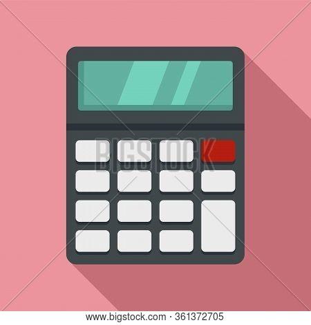 Lesson Calculator Icon. Flat Illustration Of Lesson Calculator Vector Icon For Web Design