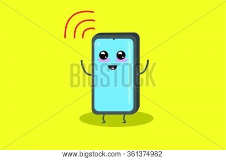Mobile Phone Happy To Have Wifi Coverage