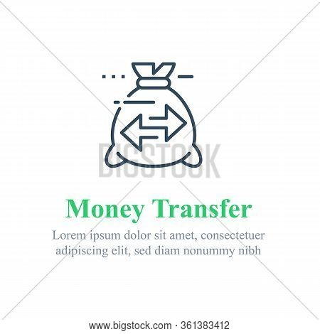 Transfer Money Concept, Send Or Receive Payment, Financial Tracking Solution, Bank Savings Account,