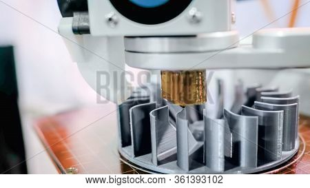3d Printing, Additive Technologies, Industrial And Manufacturing Concept - 3d Printer Machine Printi
