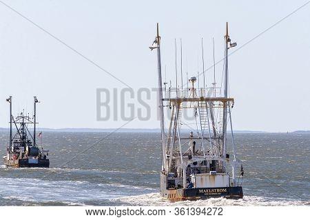New Bedford, Massachusetts, Usa - April 14, 2020: Commercial Fishing Boat Capt. John And Maelstrom O