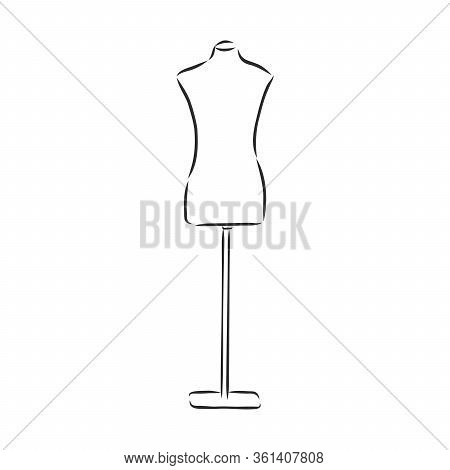 Illustration Of Isolated A Mannequin On White Background Mannequin, Vector Sketch Illustration