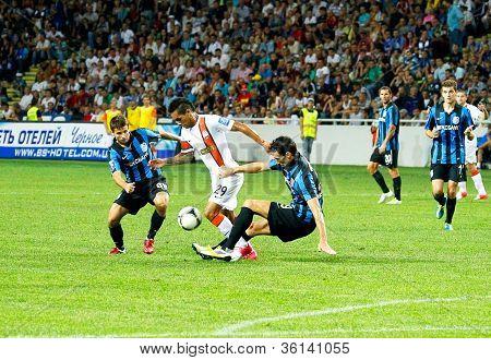 Odessa, Ukraine - August 19, 2012: A Football Match Between Shakhtar Donetsk And Chernomorets Odessa