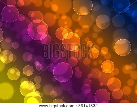 Abstract on a colorful background digital bokeh effect poster