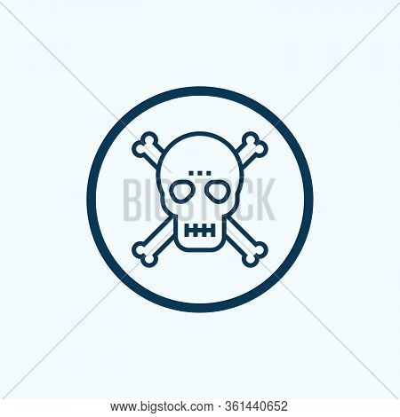 Skull With Crossbones Icon Isolated On White Background. Skull With Crossbones Icon In Trendy Design