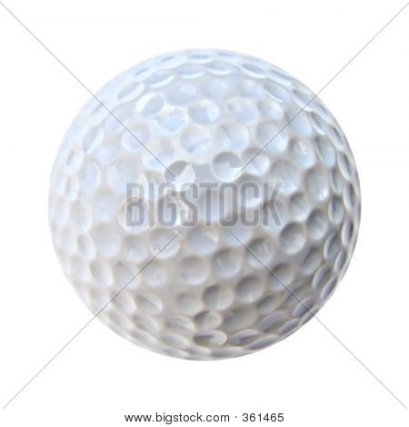 white golf ball isolated on white background. very neat and crisp. poster