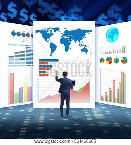 Concept of business charts and finance visualisation