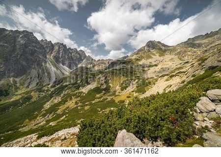 Cloudy Mountain Landscape During The Day In High Tatras, Slovakia