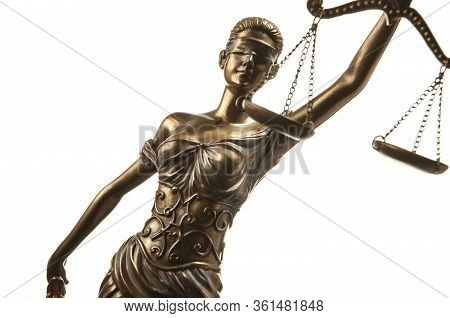 Bronze Themis Statue - Symbol Of Justice - With Negative Space
