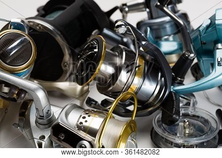 Fishing reels new and old