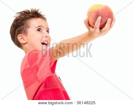 Little Naughty Boy Outstretch The Peach