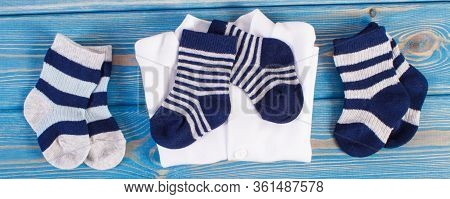 Clothing And Apparel For Newborn, Extending Family And Expecting For Baby Concept
