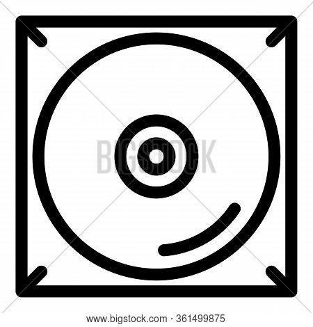 Music Cd Audio Icon. Outline Music Cd Audio Vector Icon For Web Design Isolated On White Background