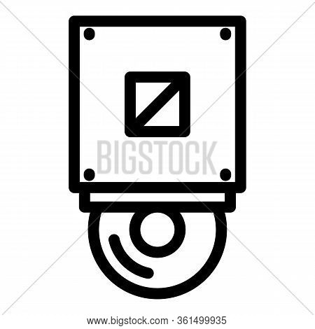 Cd Rom Icon. Outline Cd Rom Vector Icon For Web Design Isolated On White Background