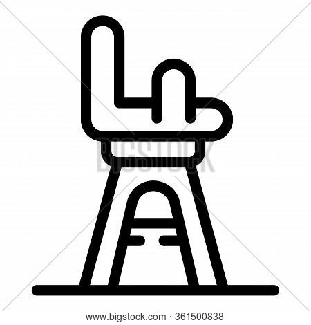 Baby Feeding Chair Icon. Outline Baby Feeding Chair Vector Icon For Web Design Isolated On White Bac
