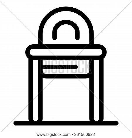 Family Feeding Chair Icon. Outline Family Feeding Chair Vector Icon For Web Design Isolated On White