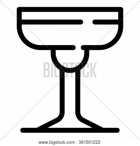 Champagne Saucer Icon. Outline Champagne Saucer Vector Icon For Web Design Isolated On White Backgro