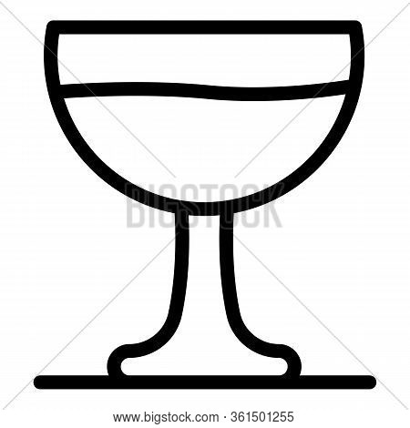 Saucer Glassware Icon. Outline Saucer Glassware Vector Icon For Web Design Isolated On White Backgro