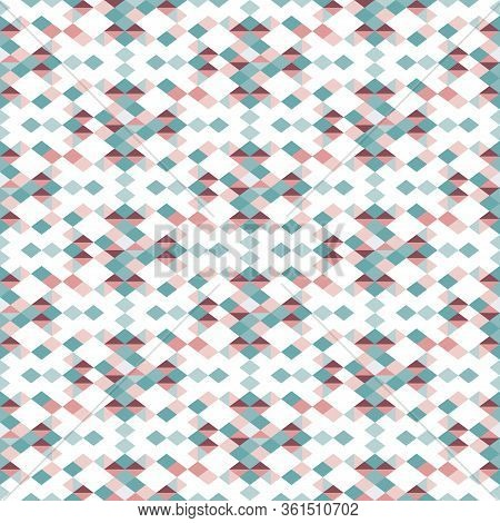Tonal Diamonds And Triangles Geometric. Pattern For Fabric, Backgrounds, Wrapping, Textile, Wallpape