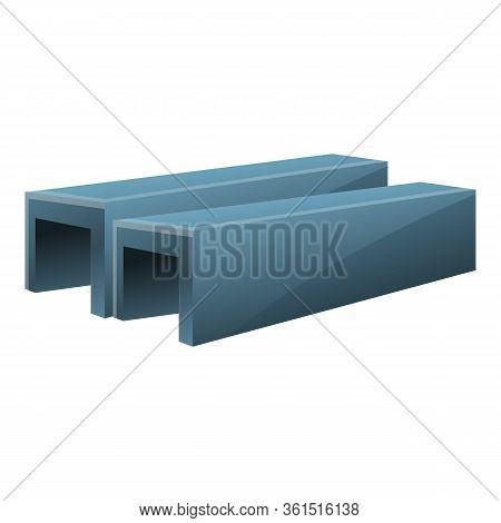 Steel Structure Icon. Cartoon Of Steel Structure Vector Icon For Web Design Isolated On White Backgr