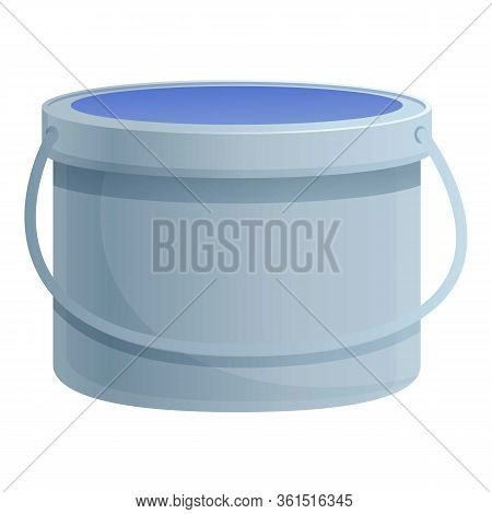 Glue Bucket Icon. Cartoon Of Glue Bucket Vector Icon For Web Design Isolated On White Background