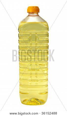 Sunflower Oil In A Plastic Bottle