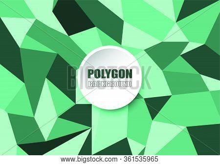 Polygonal Abstract Aqua Menthe