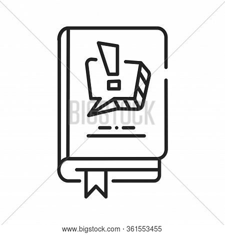 Comics And Manga Black Line Icon. A Medium Used To Express Ideas Through Images, Often Combined With