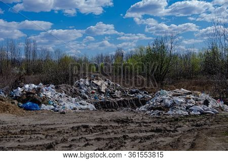 Unauthorized Illegal Landfill. Violation Of The Law, Harm To The Environment And The Environment - T