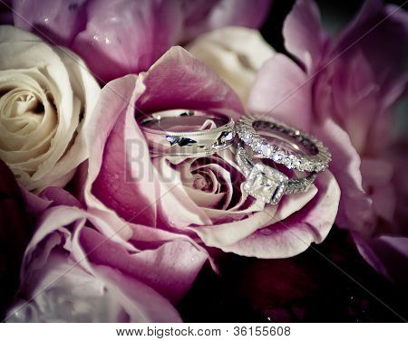 Wedding Bands And Roses