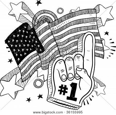 America is Number One Sketch
