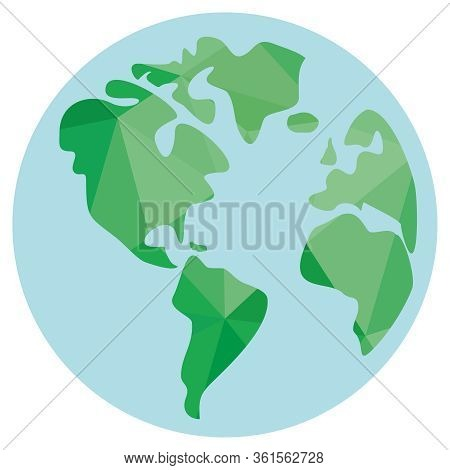 Planet Earth Isolated On White Background Vector Illustration