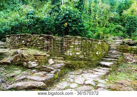 Terrace Made With Stones Where You Can See Its Perfect Circumference In Lost City (indigenous Name T