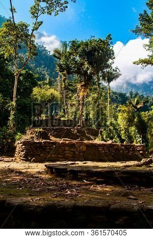 The Sunlight Shows Us Four Terraces Of The Ancient Ones Of The Entrance To The Lost City (indigenous