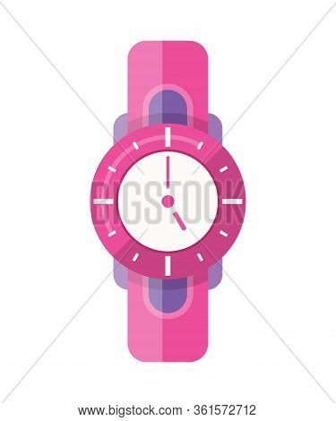Classic Men Or Women Watch Vector Icon. Watch For Businessman, Smartwatch And Fashion Clock. Flat St